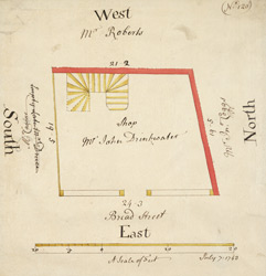 Plan of a property on Bread Street, in the City of London